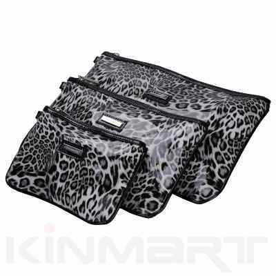 Leopard Print Cosmetic Pouch Set Monogrammed