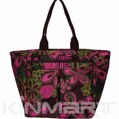 Flora Monogrammed Shopping Bag