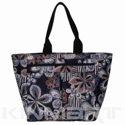 Floral Monogrammed Shopping Bag
