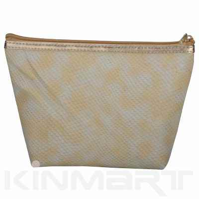 Snakeskin Cosmetic Pouch Personalizable