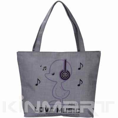 Monogrammed Printed Tote Bag