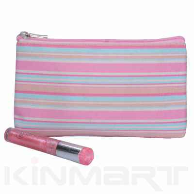 Stripe Cosmetic Brush Bag