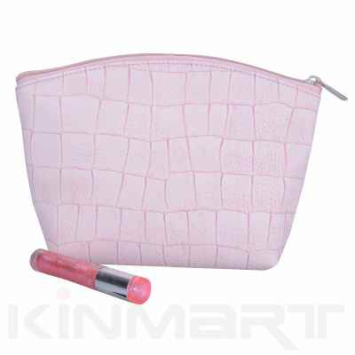 Croco Cosmetic Pouch Monogrammed