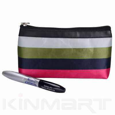 Monogram Small Stripe Cosmetic Pouch