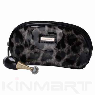 Small Leopard Personalised Print Cosmetic Pouch