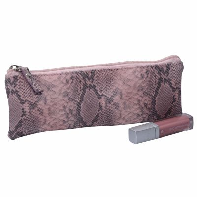 Snakeskin Cosmetic Pencil Bag Personalised