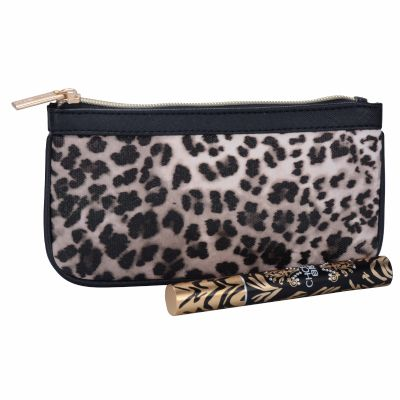 Leopard Pattern Cosmetic Purse