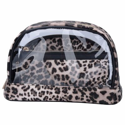 Leopard Skin Pattern 3pc Cosmetic Bag Set Monogrammed