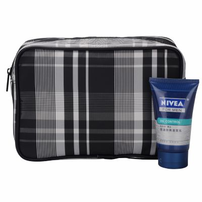 Checked Toiletry Bag Personalized