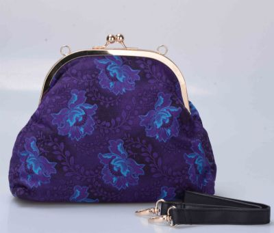 Small Clip Clutch Purse with Handle