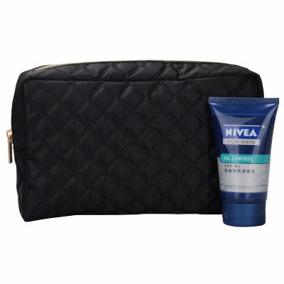 Men Check Travel Toilet Bag