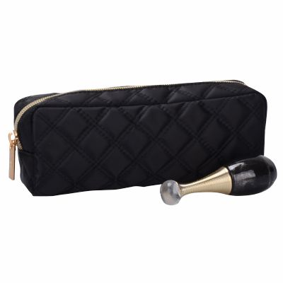 Quilted Makeup Brush Cosmetic Bag Personalized