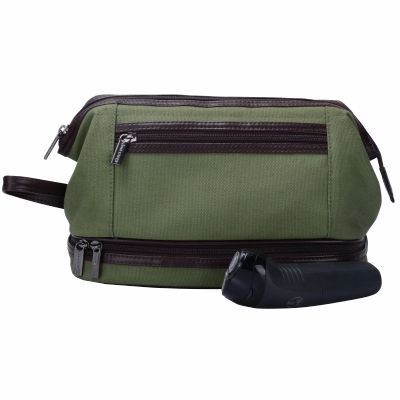 Bulk Canvas Travel Cosmetic Bag