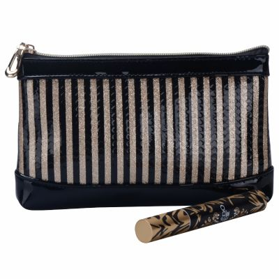 Stripe Makeup Bag