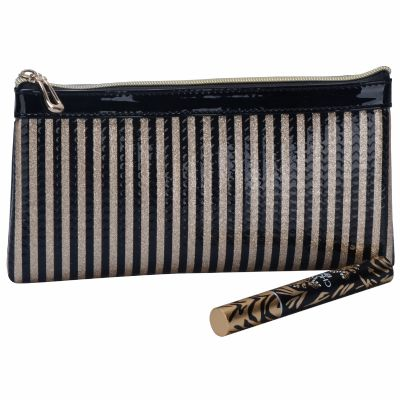 Retangular Stripe Cosmetic Bag