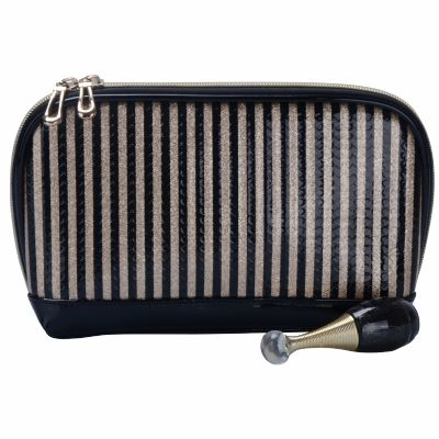 H-Q Stripe Makeup Bag