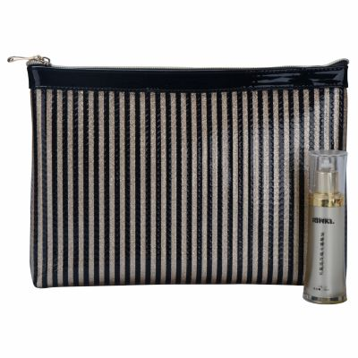 Large Stripe Makeup Pouch