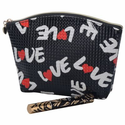 LOVE Letter Monogrammed Cosmetic Pouch