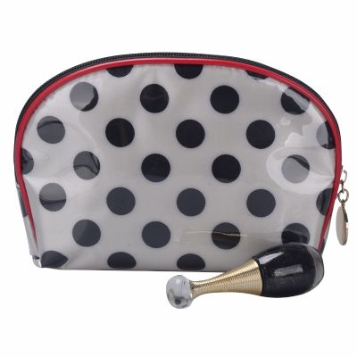 Personalised Polka Dots Cosmetic Bag