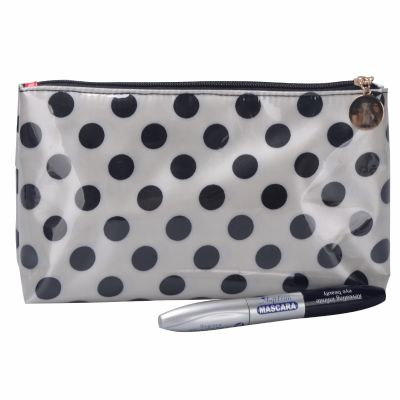 Polka Dots Quality Nylon Makeup Bag