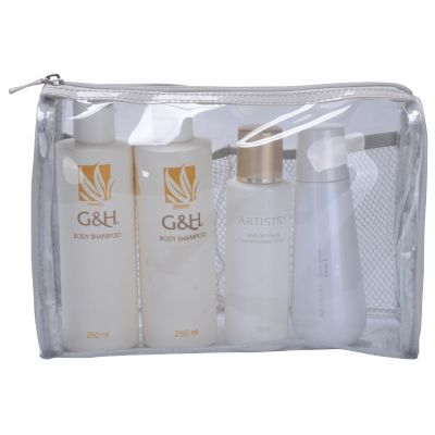 Retangular Clear Vinyl Cosmetic Bag Personalizable