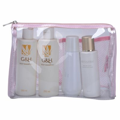 Retangular Clear Vinyl Cosmetic Bag Personalizable