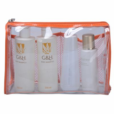 Retangular Clear Vinyl Cosmetic Bag