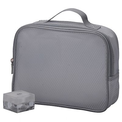 Translucent Mesh Cosmetic Packaging Bag with Handle