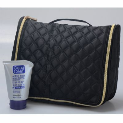 Quilted Hanging Travel Toiletry Kit