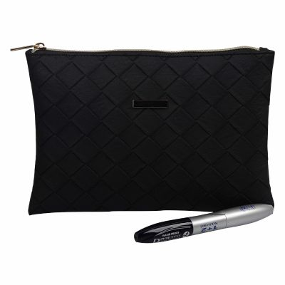 PU Embossed Quilted Cosmetic Clutch Bulk