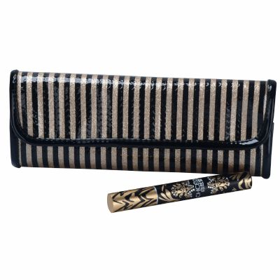 Stripe Makup Brush Pouch