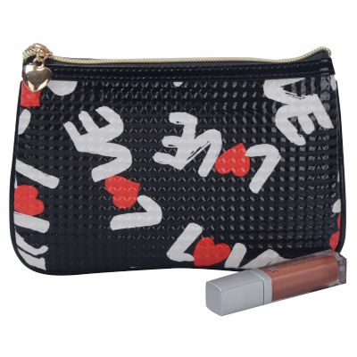 PU Leather Letter Monogrammed Makeup Bag