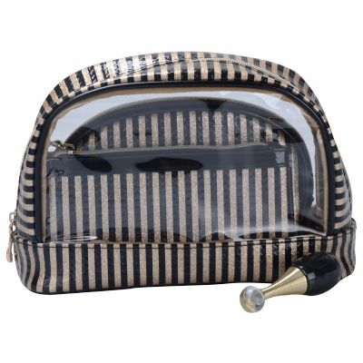 Stripe Vanity Bag 3-Pc Set