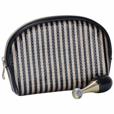 Stripe Printed Cosmetic Pouch Personalised