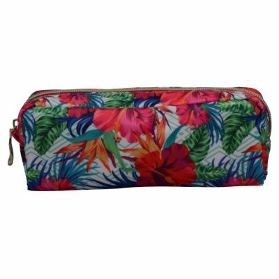 Monogram Floral Makeup Brush Cosmetic Bag