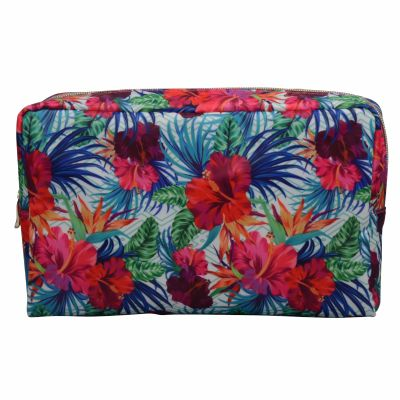 Large Floral Travel Toiletry Bag Personalised
