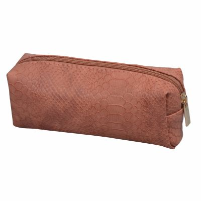 Monogram Croc Retangular Cosmetic Bag