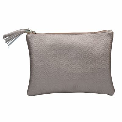 Cosmetic Pouch with Tassel Zip Pull