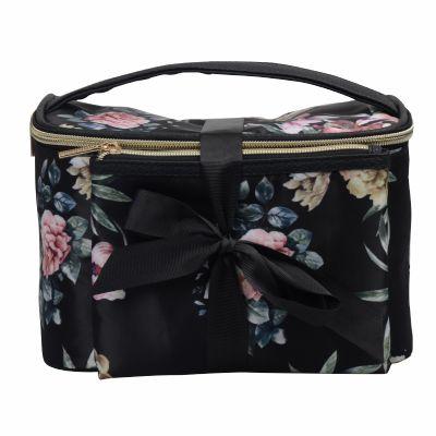Cosmetic Vanity Bag n Flat Cosmetic Bag as 2pc-Set Personalized