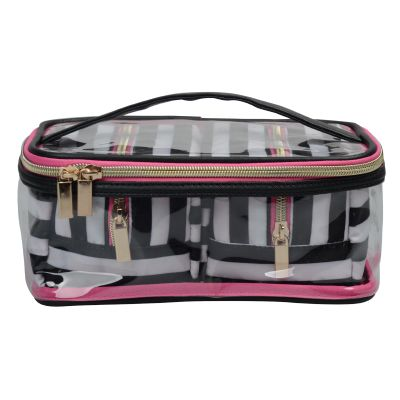 Cheap Stripe Cosmetic Bag 3Pc Set