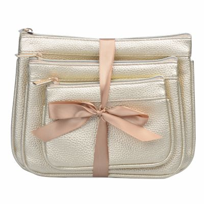 High Quality 3PC PU Cosmetic Pouch Set