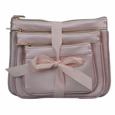 High Quality PU Cosmetic Bag 3PC Set Personalized