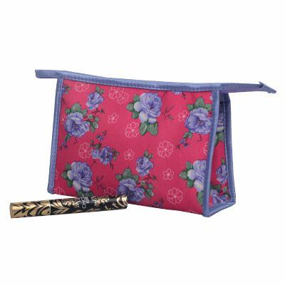 Small Retangular Toilet Bag with Rose Print Bulk
