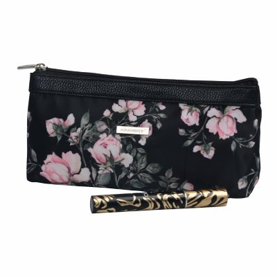 Rose Pattern Print Cosmetic Bag Personalised