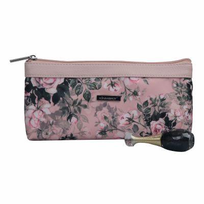 Rose Pattern Print Cosmetic Bag Personalised