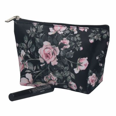 Floral Monogrammed Makeup Pouch