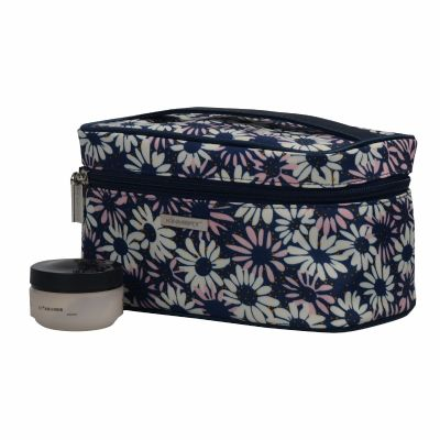Rectangular Shape Cosmetic Bags with a Handle Personalized