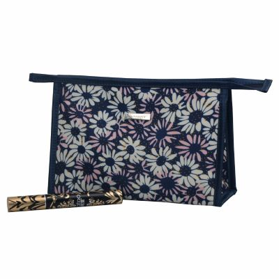 Chrysanthemum Pattern Print Toiletry Bag Personalised