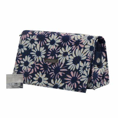 Chrysanthemum Print Makeup Bag with Mirror