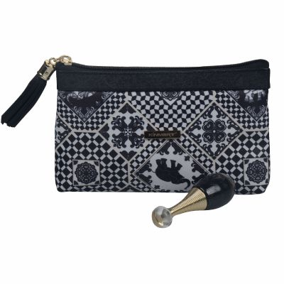 Print Cosmetic Bag with Luxury Zipper Pull Personalized